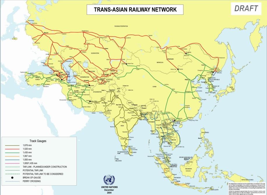Trans Asia Railway Network, U.N Master Logistics Plan