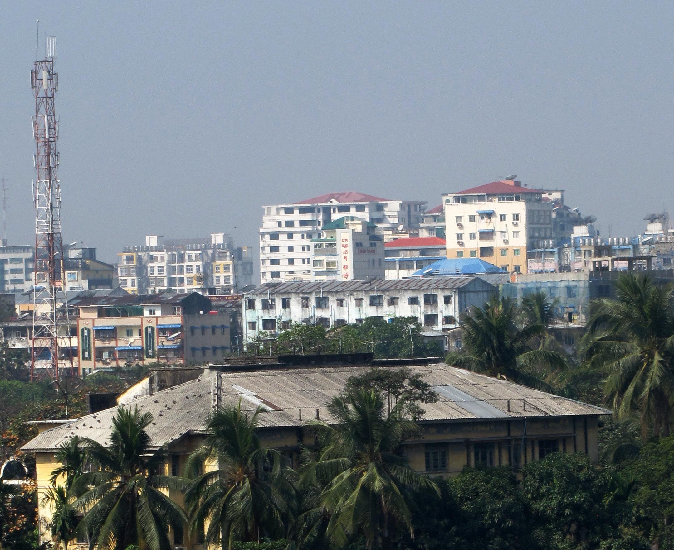 Yangon Myanmar  city pictures gallery : Telecommunications Tower Yangon Myanmar