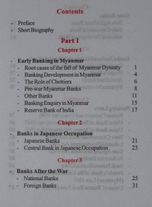 Financial Developments In Myanmar Table Of Contents Chapters 1 3 2
