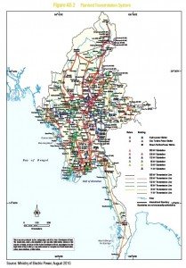Planned transmission lines in Myanmar - Copy