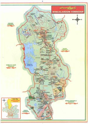 PDF Map Scans Individual Townships In Yangon Myanmar - Burma map hd pdf