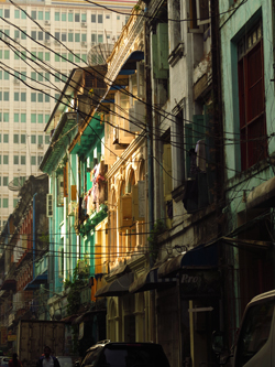 1920's French Arch window frame Yangon2014 Image David DuByne