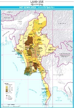 Net Sown Land Area Map of Myanmar