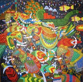 Pansodan Gallery Artwork Yangon Myanmar 2014_Image David DuByne