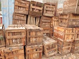 Wooden Cargo Crates Warden Jetty Yangon Myanmar 2014_Image David DuByne