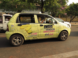 Yangon Yellow Pages Advertisement Vehicle 2014_Image David DuByne