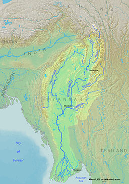 Myanmar Central Dry Zone Map