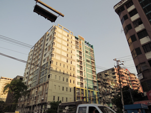 Newly constructed Myanmar Condominimum 2014 Image David DuByne