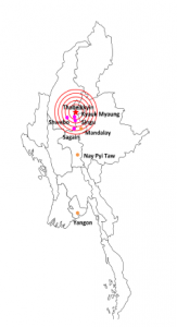 Thabeikkyin Myanmar 6.8 Earthquake Summary