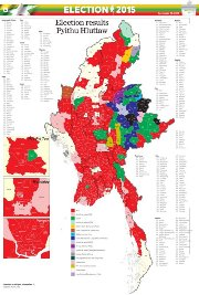 Myanmar Election Results Map November 2015 - Copy