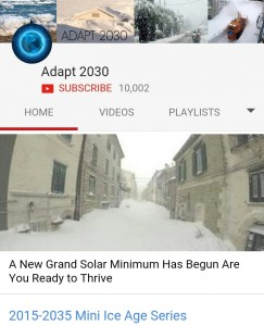 ADAPT 2030 Mini Ice Age Series by David DuByne passes 10 Thousand subscribers on YouTube