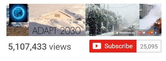 adapt 2030 youtube channel reaches 25 thousand subscribers