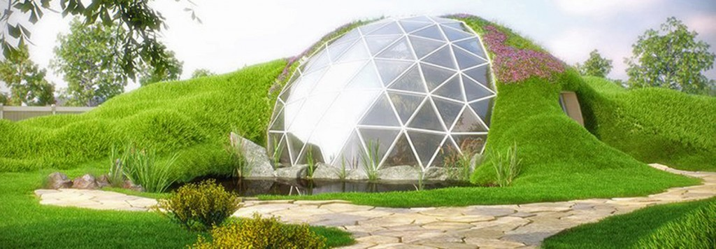 geodesic growdomein earth house